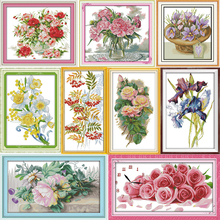 Joy sunday All Flowers Bloom Together Counted Cross Stitch Kits Cross-stitch set Embroidery Needlework