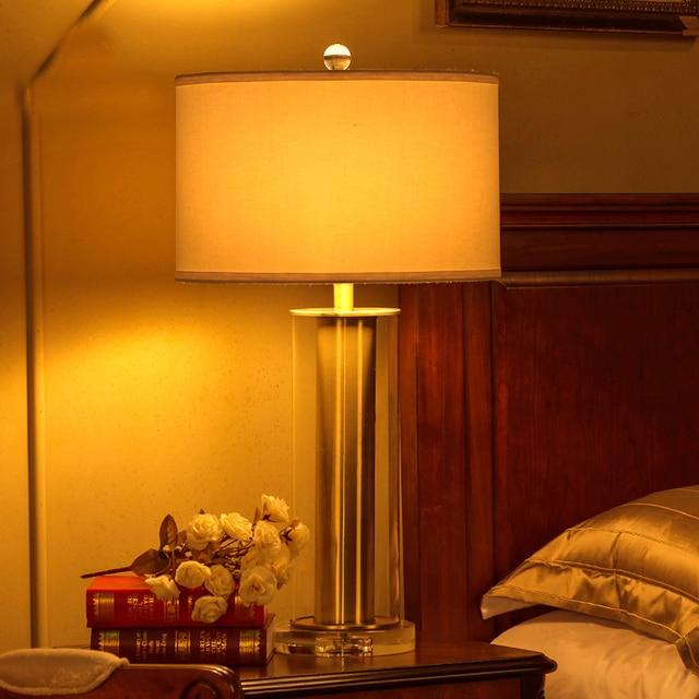 Klassische Gold Glas Kristall Basis Tisch Lampe Moderne Hotel Lobby