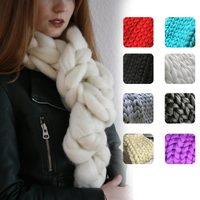 Winter Crochet Knit Scarf Shawl Wrap Warm Thick Yarn Knitted Scarves JL