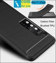 Матовый Мягкий чехол силиконовый чехол для Meizu Pro7 Pro 7 plus анти хит ударопрочность углерода Волокна Матовый ТПУ протектор