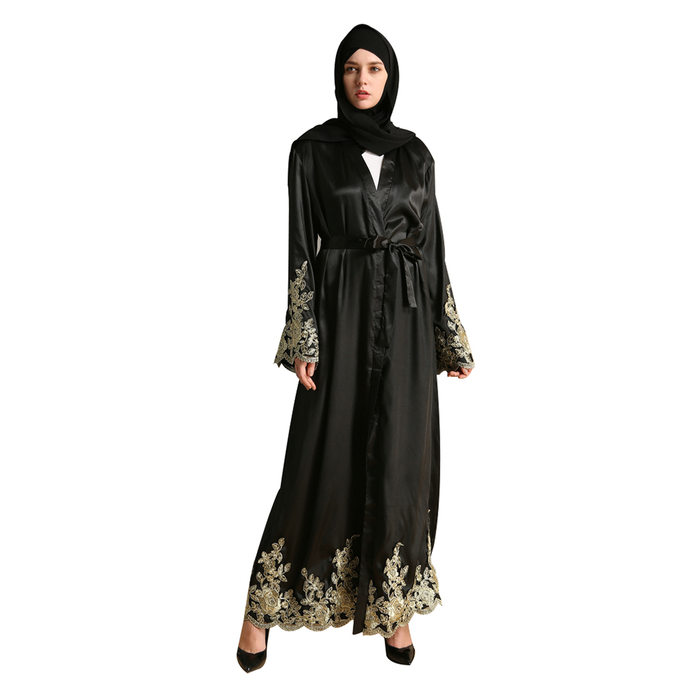 Adult Gold Wire Embroidery Lace Long Flare Sleeve Malaysia Turkish ...