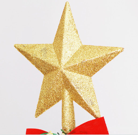 Us 2 99 3 Color 20cm Bling Christmas Decoration For Home Xmas Tree Topper Star Tree Ornament Gold Star Treetop Festival Party In Tree Toppers From