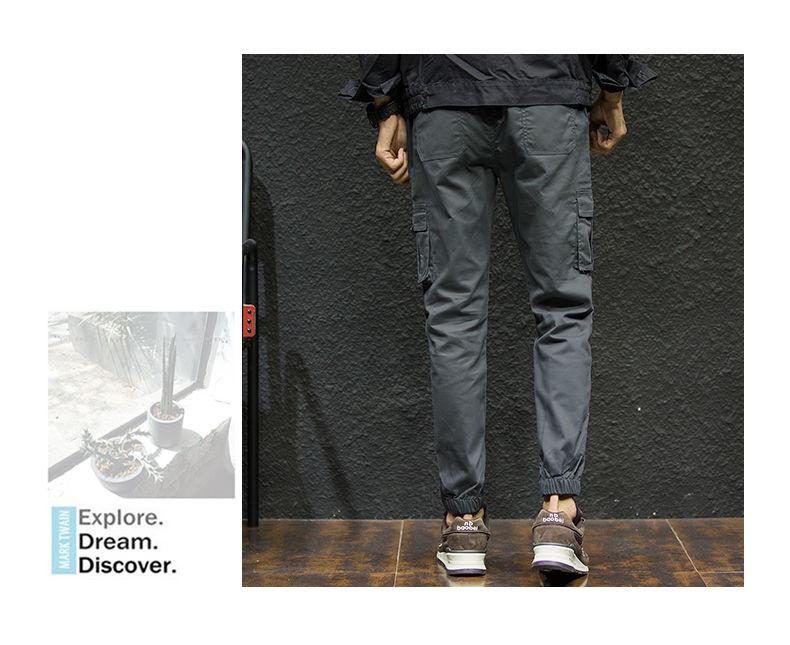 7XL Cargo Pants Men Quality Cotton Pencil Pants Male Washed Slim Fit Pants Mens Trousers Korean Brand MuLS Plus Size Casual Pant 07