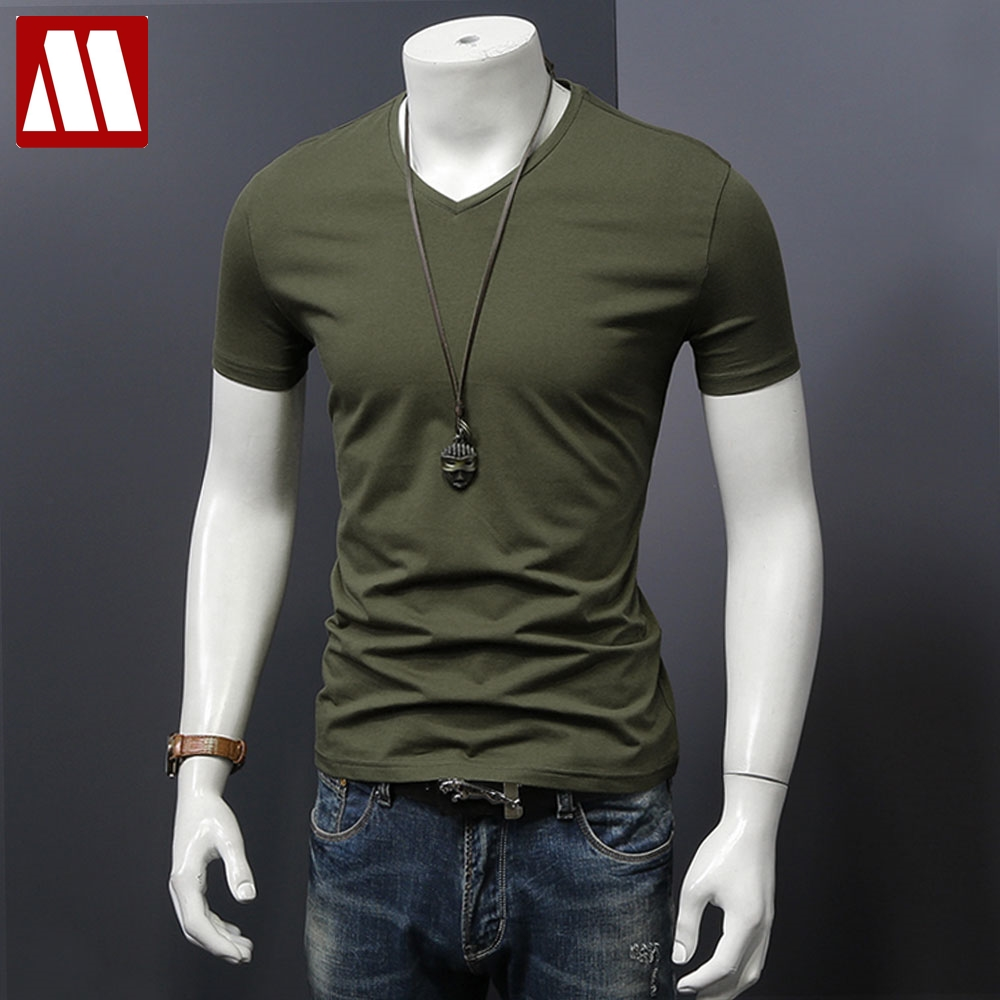 New 2018 Men Embroidery t shirt men brand clothing summer solid t shirt male casual tshirt fashion mens short sleeve plus size S 3XL.