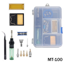 High Quality MT-100 Aerated Flame Butane Gas Soldering Iron Electric Soldering Iron Gun Blow Torch Tool / Tip nozzle / Tweezers mt 100 1300 c butane gas brazing iron black silver 8ml