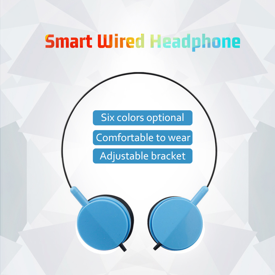 TOPYING Wired Headphone 3 5mm Stereo Music Headphones Portable Sport Headphone For Mobile Phone Computer PC in Earphones Headphones from Consumer Electronics