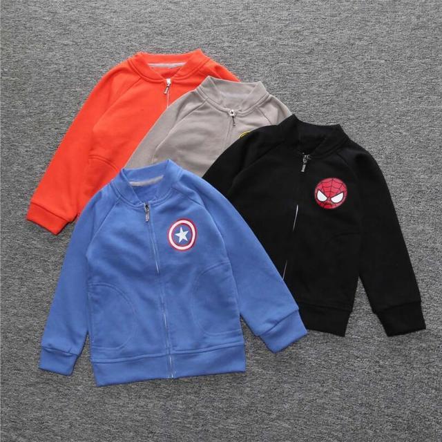 New The Avengers Hero boys baseball jackets oys Girls Autumn Spider-man Coat Children Outerwear Jackets Clothing