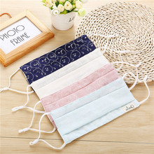 10pcs Bags Spring And Summer New Funny Expression Labeling 3 Layer Printing Linen font b Masks