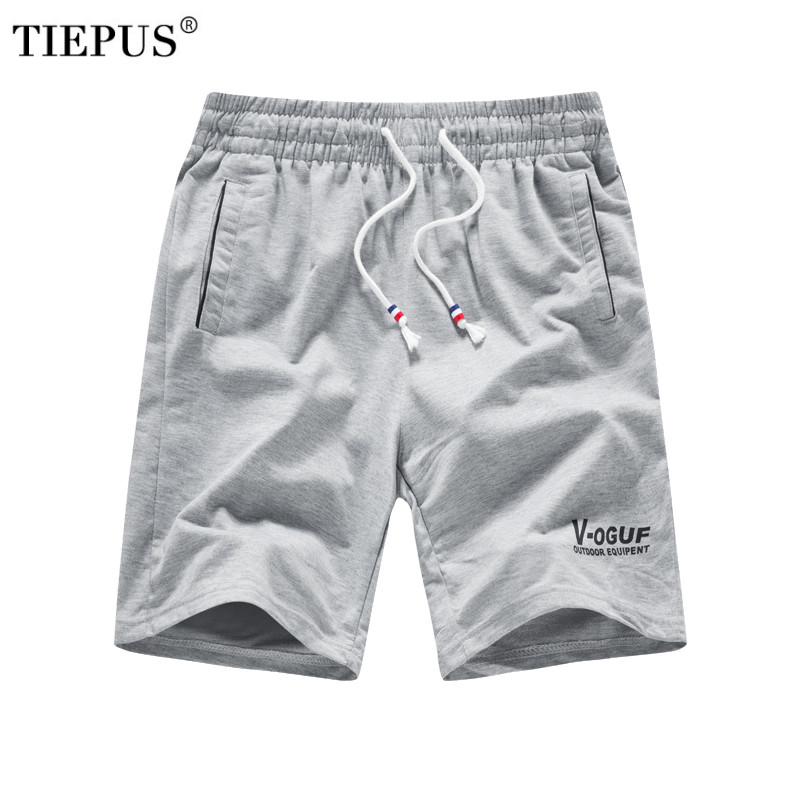 TIEPUS 2018 Solid Men's Shorts Plus Size L~ 4XL,5XL,6XL Summer Mens Beach Shorts Cotton Casual Male Shorts Homme Brand Clothing