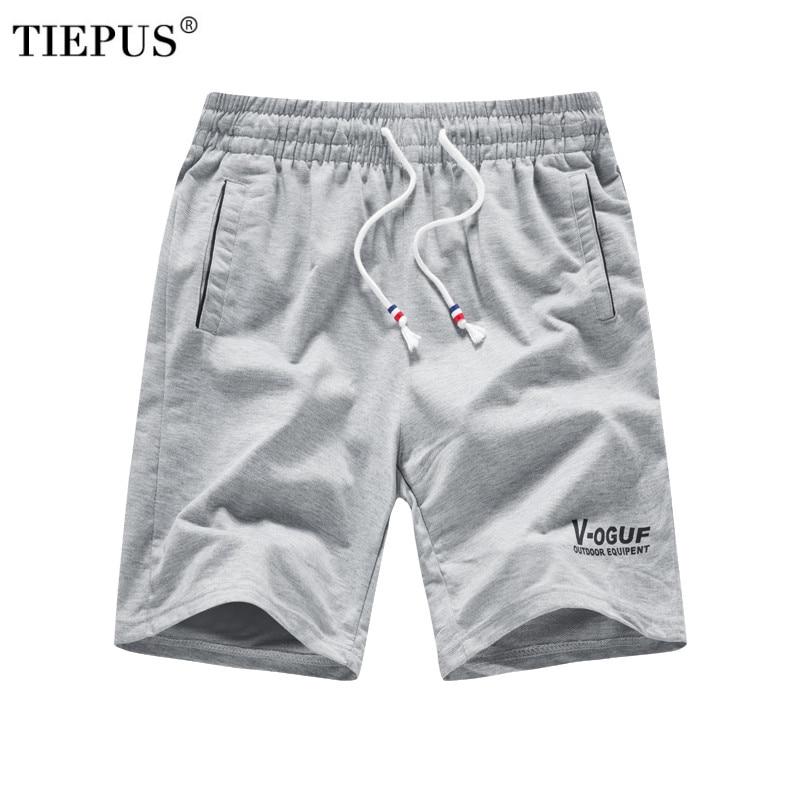 TIEPUS 2018 Solid Men's Shorts Plus Size L~ 4XL,5XL,6XL Summer Mens Beach Shorts Cotton Casual Male Shorts Homme Brand Clothing