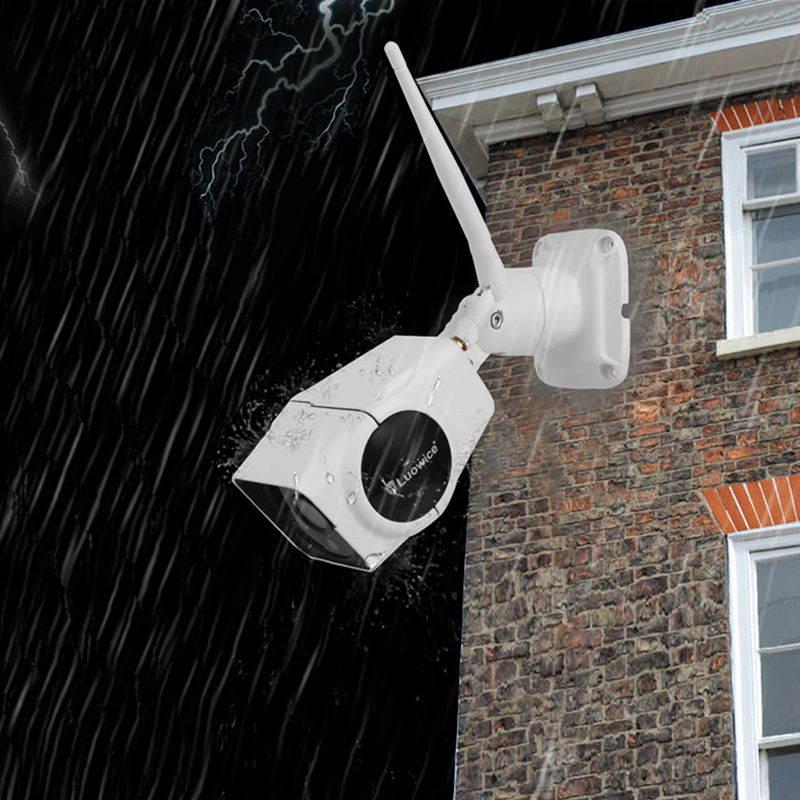Home Security IP Camera Wireless WiFi Camera with Intercom Function IP Camera 50ft Night Vision and 32G Indoor/Outdoor IP66
