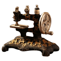 Classic Retro Sewing Machine Model Ornaments Resin Furniture Old Sewing Machine Miniature Craft Bar Coffee Home Decoration Gifts