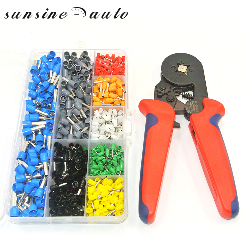 800pcs Wire Crimping Tool Kit Cable Wire Terminal Connector With Hand Ferrule Crimper Plier Crimp Tool Kit Set AWG 10-22