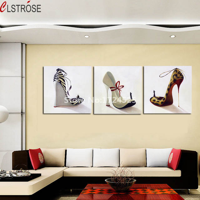 CLSTROSE High Heel Shoes Wall Picture Modern Wall Painting Decor ...