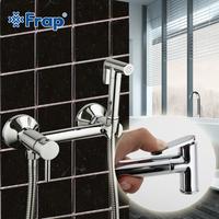 Frap 1 Set Solid Brass Cold And Hot Water Shower Mixer With Bidet Shower Head Single