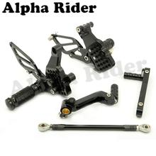 Black Racing CNC Billet Adjustable Rearsets Footrests Foot Control Pedals Pegs Rear Sets for Ducati 749 999 2003-2006 2004 2005