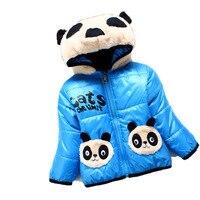 Inverno Infantile Dei Ragazzi Calda Panda Vestiti Del Bambino Appena Nato Natale hoody Giacca In Pile di spessore bambino Capretti dei bambini del Cappotto di Neve 176