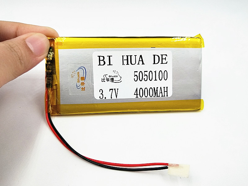 1/2/4Pcs <font><b>3.7V</b></font> <font><b>4000mAh</b></font> 5050100 Lithium Polymer <font><b>LiPo</b></font> Rechargeable <font><b>Battery</b></font> ion cells For Mp3 Mp4 Mp5 GPS DIY PAD DVD BT Speaker image