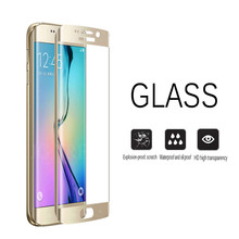 9H Full Cover Premium Screen Protector For Samsung Galaxy S7 Edge S6 Edge Tempered glass For Samsung s6 s7 edge Film Cover