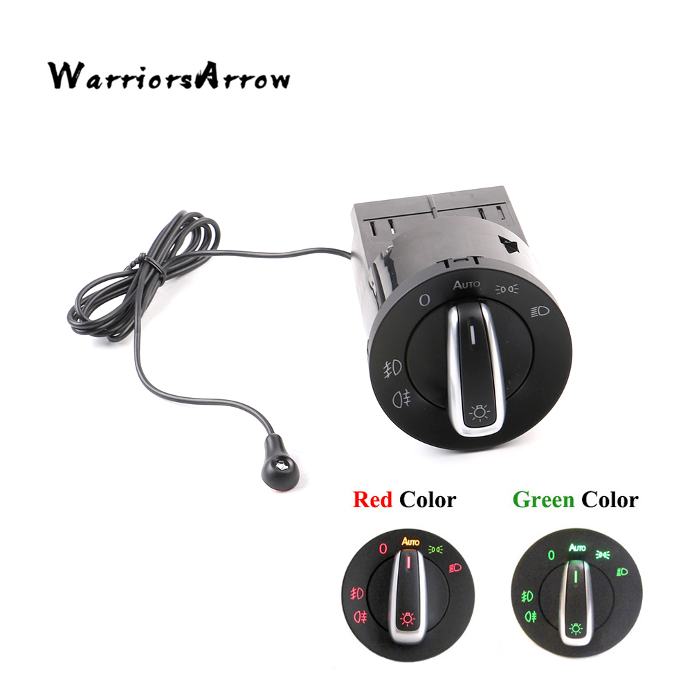 WarriorsArrow AUTO Headlight Switch Knob Light Sensor Module Upgrade For VW Golf Jetta MK4 Passat B5