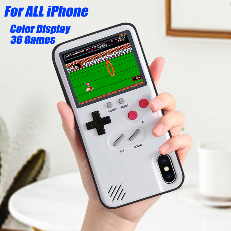 Game Soft TPU Phone Case For iPhone 11 Pro Max X XS XR 6 7 8 Plus Color Display 36 Classic Game Console Silicone Cover IPXM9