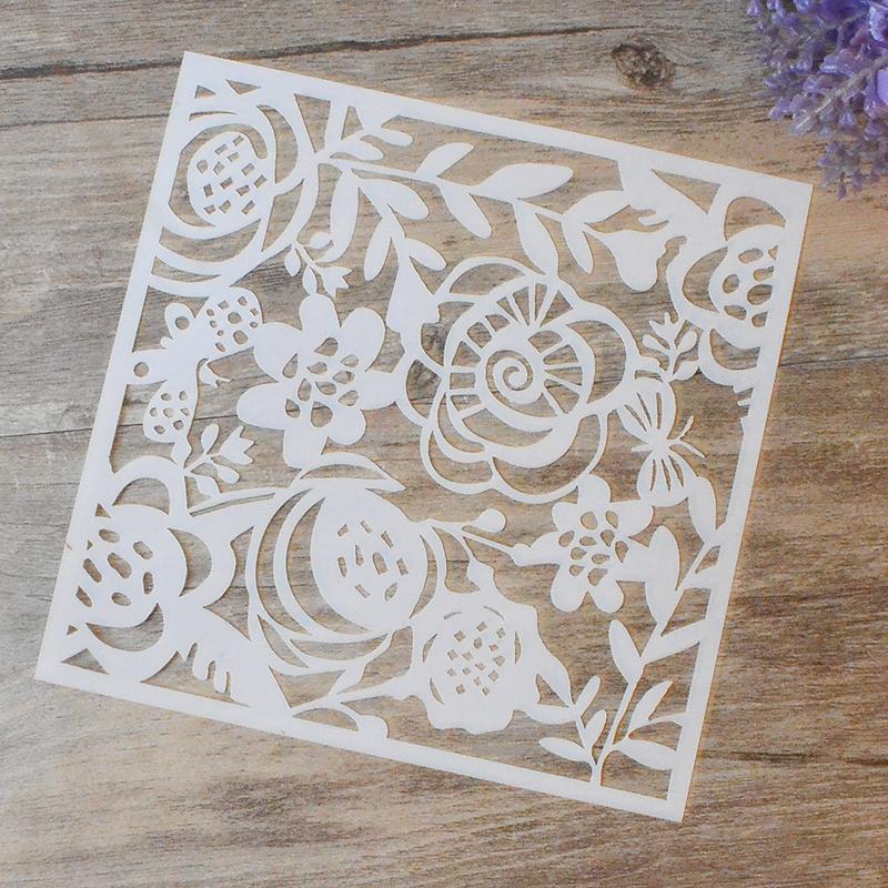 diy flor artesanal projeto camadas stencils para paredes pintura carimbar lbum de selos cartes de