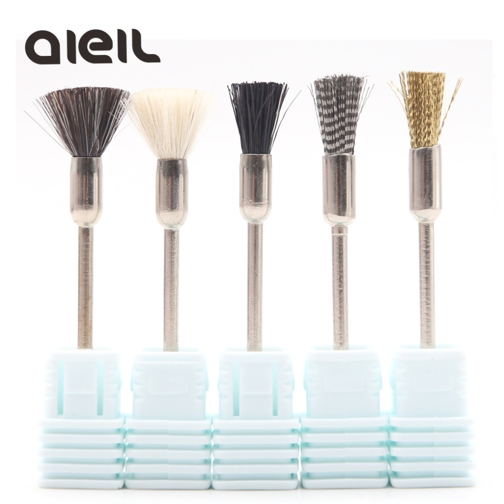 Nail Drill Bits Brush Cutters For Manicure Machine Nail Drill Cleaning Brush Milling Cutters For Pedicure Nail Drill Accessories