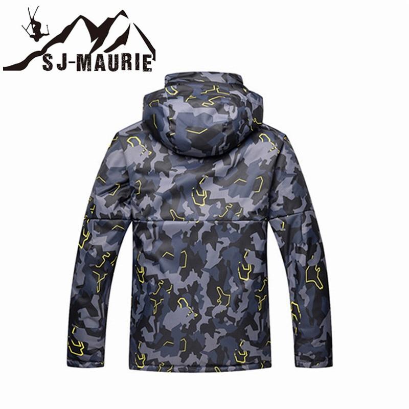 Veste de Ski homme veste de Snowboard Camouflage combinaison de Ski hiver imperméable coupe-vent veste de chasse d'hiver - 5