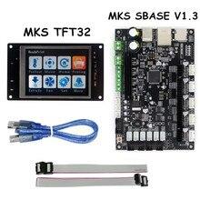 Piezas de La Impresora 3D Controlador Inteligente SBASE Smoothieboard V1.3 + MKS MKS TFT32 Pantalla Del Controlador