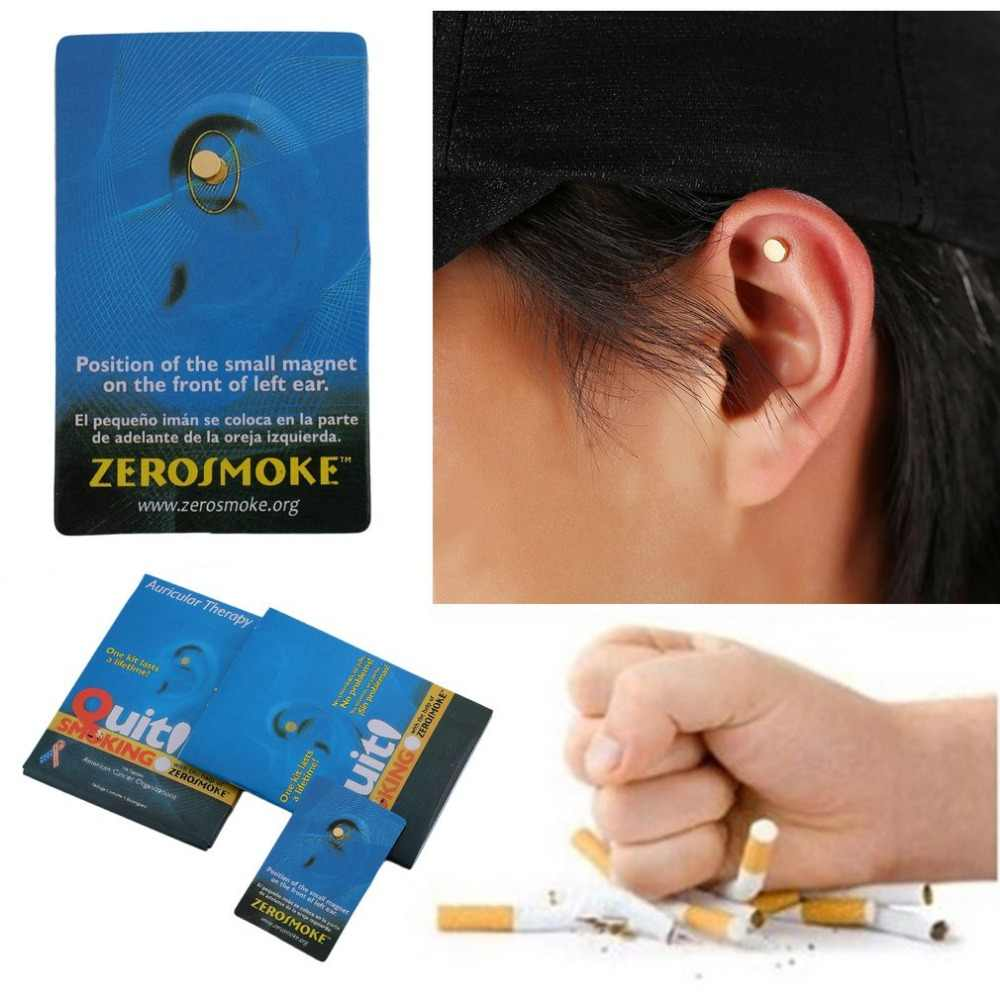 2 Pcs Health Head Care Trainer Magnet Quit Smoke Acupressure Patch No  Cigarettes Power Training Fitness Home Gym Sports