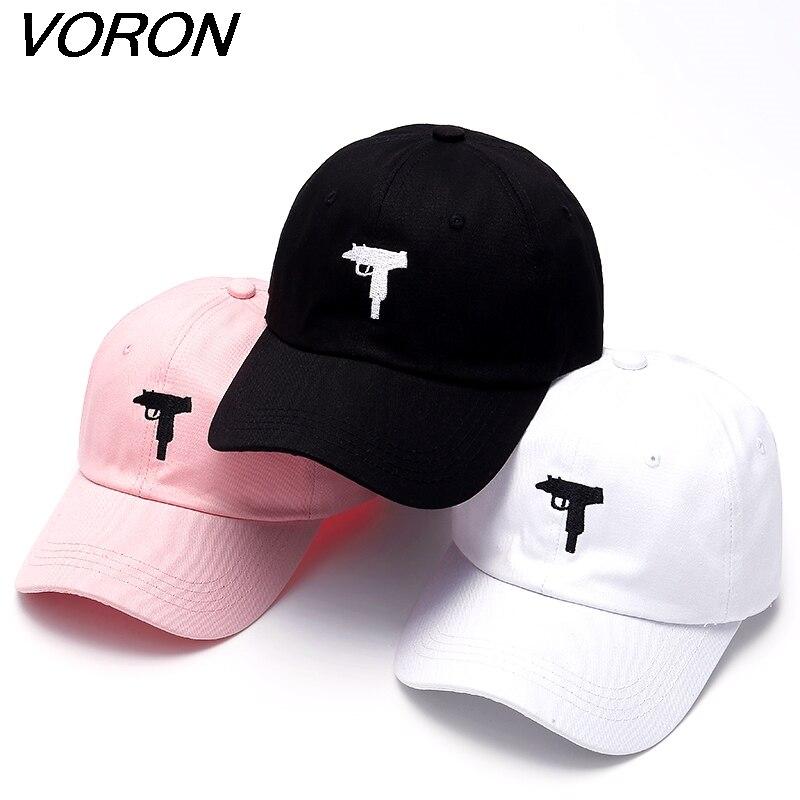 VORON Uzi pistolet casquette de Baseball US mode 2017 Snapback casquette Hip hop hommes HEYBIG courbe visière 6 panneau papa chapeau casquette de marque