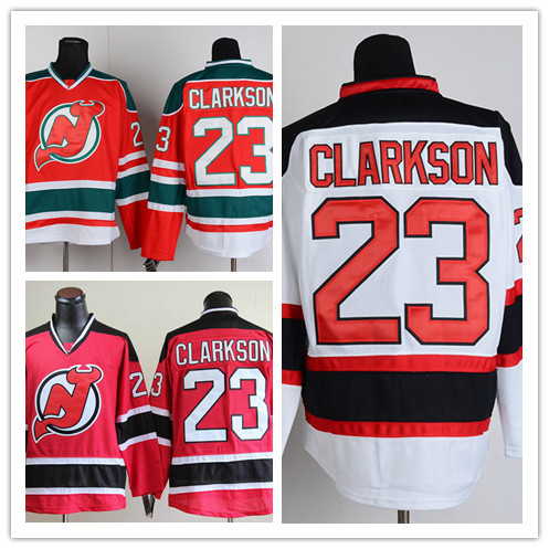 Cheap Hockey Jerseys New Jersey 23 David Clarkson Ice Hockey Jersey