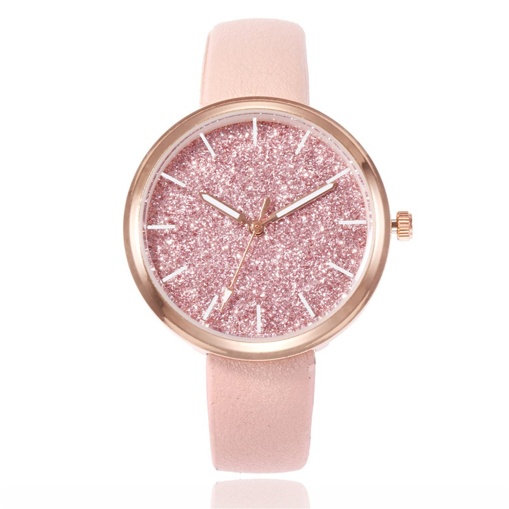 Luxury Starry Women Watches Leather Quartz Ladies Bracelet Watch Simple Casual Clock Lovers Girl Wristwatch Relogio Gifts