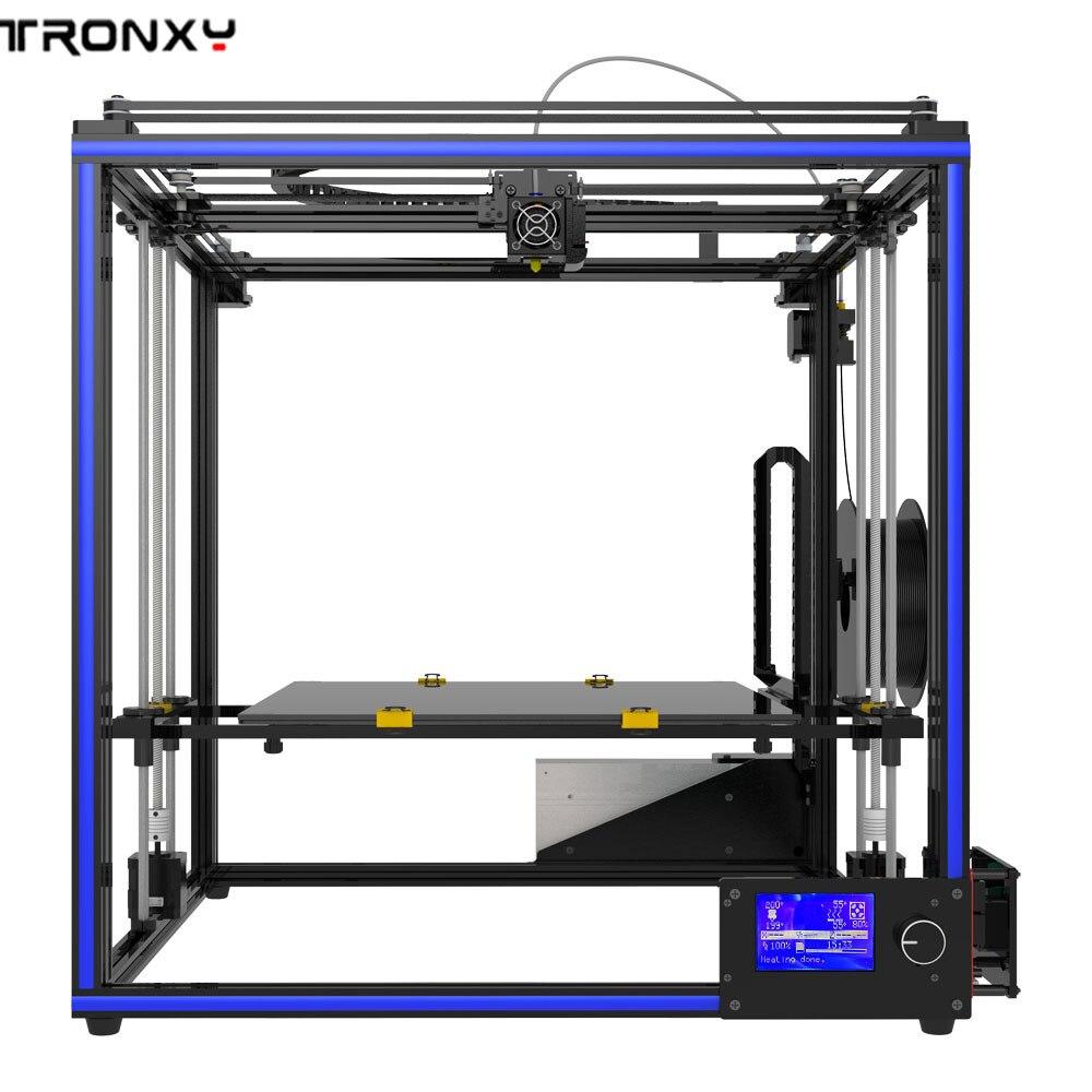 Tronxy X5S-400 400x400x400 millimetri di Alta Precisione Rapido Montaggio Schermo LCD 3D Stampante profilo in alluminio durevole indossare -resistente all'acqua