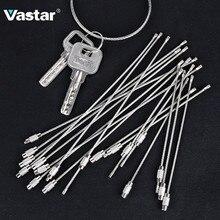 Vastar 10 шт. 10 см 20 см Брелок тег веревка из нержавеющей стали EDC провод кабель петля винт устройство блокировки кольцо брелок ручной инструмент