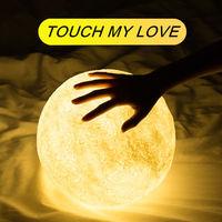 3D Print LED Moon Touch Sensor Light Lamp USB LED Night Lights Moonlight Color Changing Kids Gift Nachtlampje Veilleuse