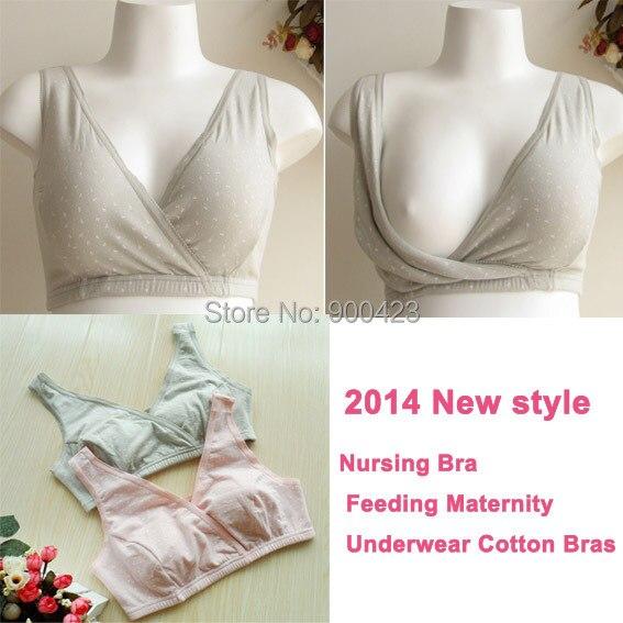 Nursing Bra Foder Maternity Underkläder Bomull Bras För Gravida Kvinnor Underkläder Gravidas Amning