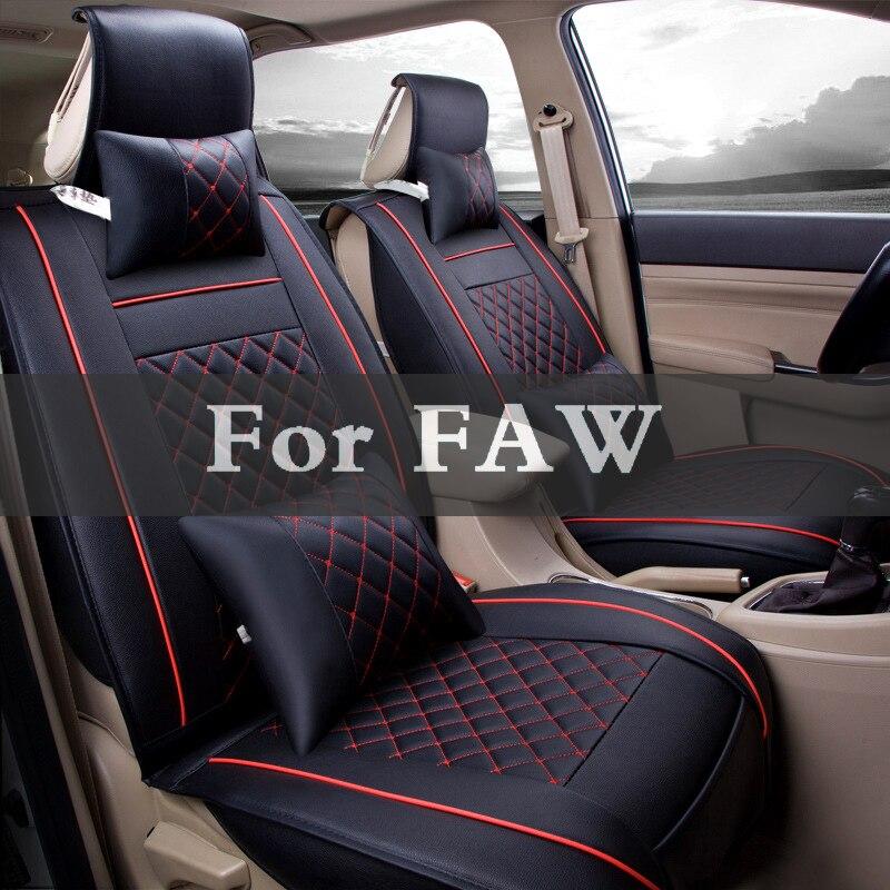 Ensembles de coussin voiture Place 1 set housse de siège auto en cuir synthétique polyuréthane rayé housse de coussin pour Faw Besturn Jinn V2 V5 Oley Vita B50 X80 B70
