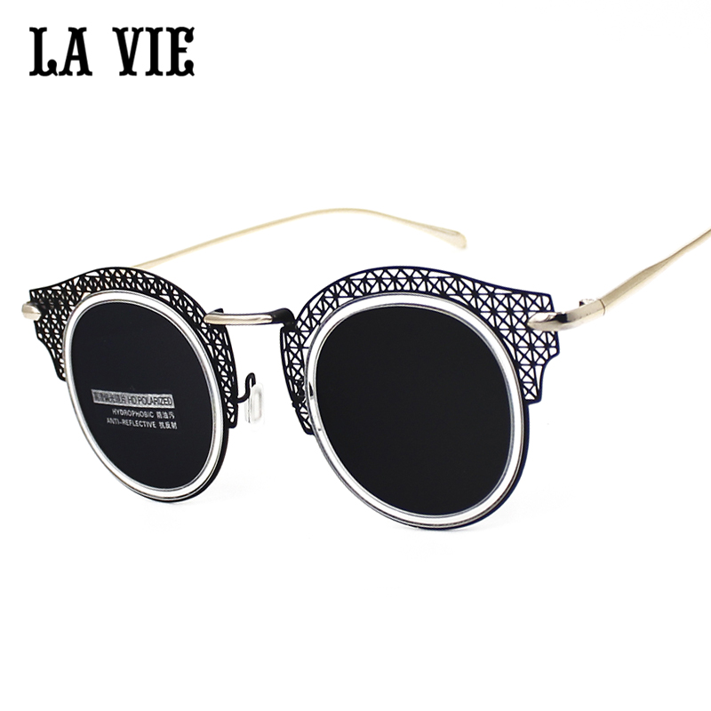 3e0c41220f1b6 La vie 2016 new steampunk óculos de sol das mulheres oculos de sol cat eye  espelhado lens proteção uv400 polarizada óculos de sol para mulheres