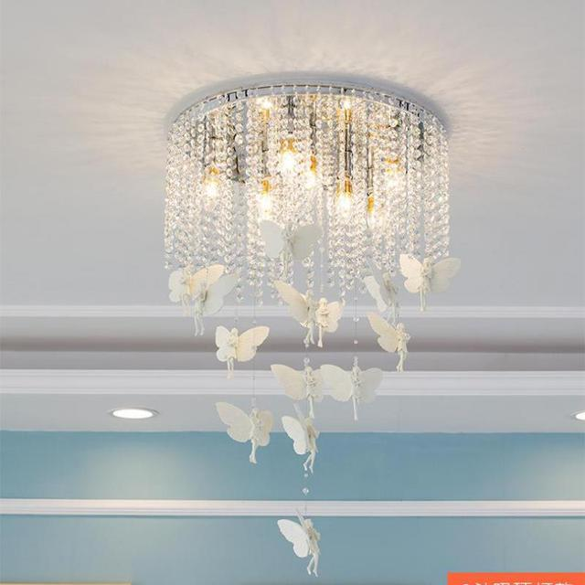 Kid's bedroom butterfly Ceiling light for Dining room ceiling fixures showroom surface led butterfly wedding light Lampara Techo