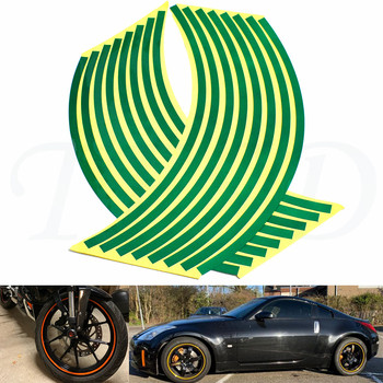 Car motorcycle Tire Rim Stickers 17-19 Reflective Car-Covers Tape Wheel Tyre Sticker Decors For Aprilia RSV MILLE / R/Factory image