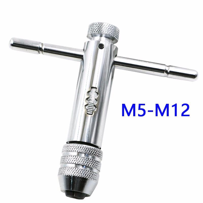 Einstellbare Ratsche Tap Wrench Halter Verlängert Windeisen Schraube Schlüssel M3-m8 M5-m12 Erfrischung Werkzeuge