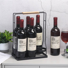 Europe Creative Metal Countertop Bottle Holder Storage Wine Glass Drink Beer Bar Stand Bracket Display Brack