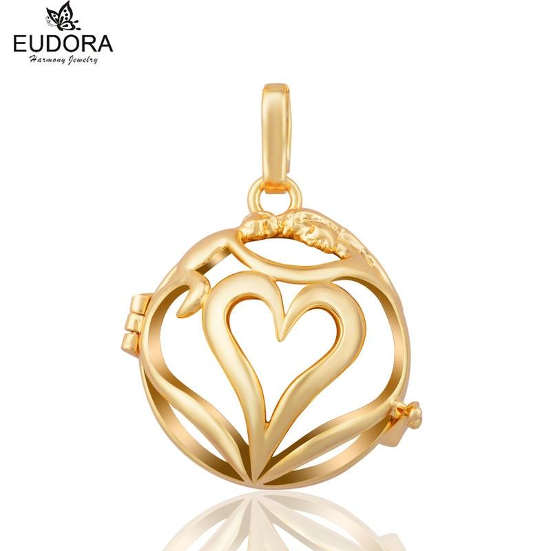 Love Each Other  Eudora Harmony Ball Pregnancy Chime Locket Bola Cage Pendant Aromatherapy Locket Jewelry Pregnant Women Gift