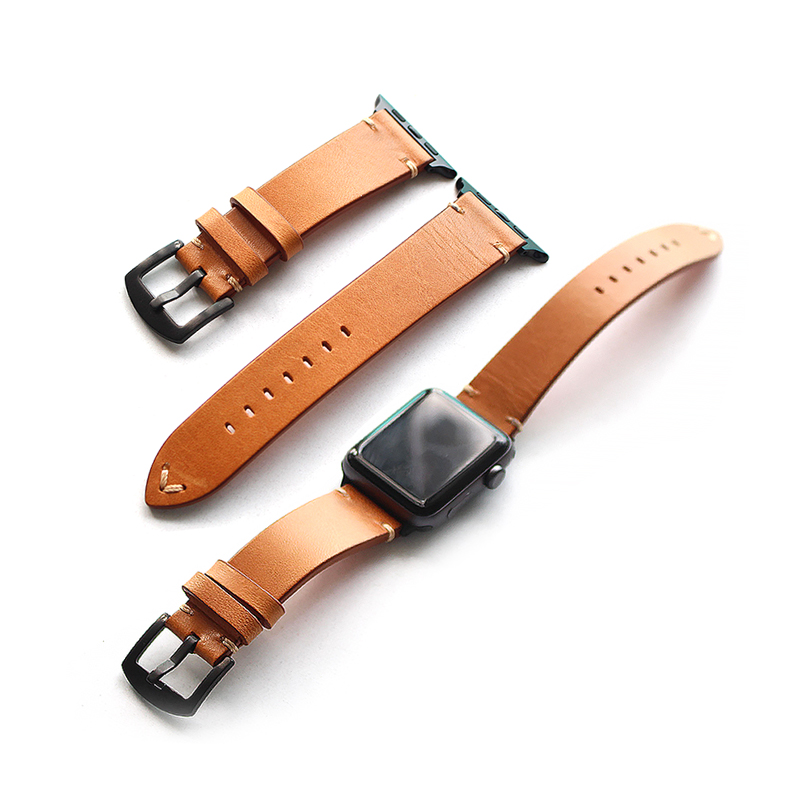 TJP Top Quality Brown Gray Genuine leather 38mm 42mm Apple Watch Series 1 2 Watchband iwatch Strap Bracelet With Adapter kakapi crocodile skin genuine leather watchband with connector for apple watch 38mm series 2 series 1 pink
