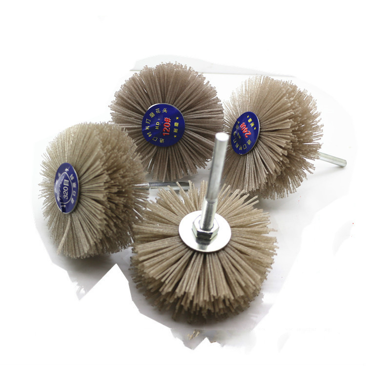 FLOWER FLOWER Polished Mahogany Super Abrasion Polishing Brush Root Grinding Tools Grinding 1PCS Du Bangsi