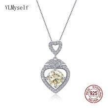 Цепочка с подвеской женская из серебра 925 пробы сердечком