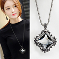 2016 New Arrival Women  Crystal Necklace Female Temperament Decorative Accessories Pendant  Long Paragraph Sweater