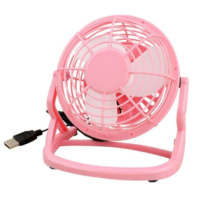 Ultra Quiet Mini 4 Inch Usb Fans Plastic Portable Small Desk Fan