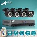 Anran 1080n hd ahd dvr sistema de câmera de segurança 4ch & 720 p ir à prova d' água cctv ao ar livre câmera de vigilância de vídeo em casa kit de alarme de e-mail